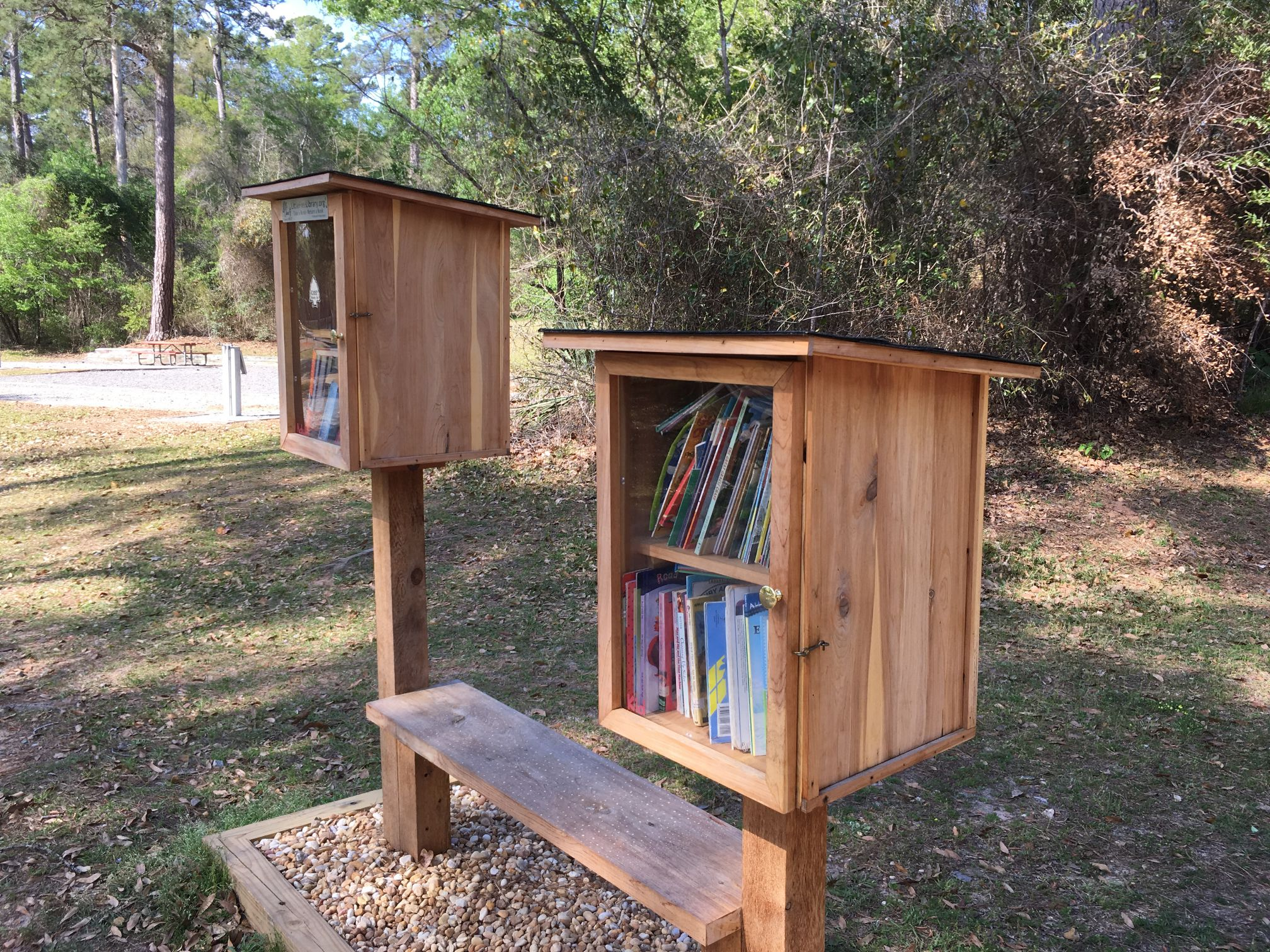 Little free lending libraries at Kolomoki State Park