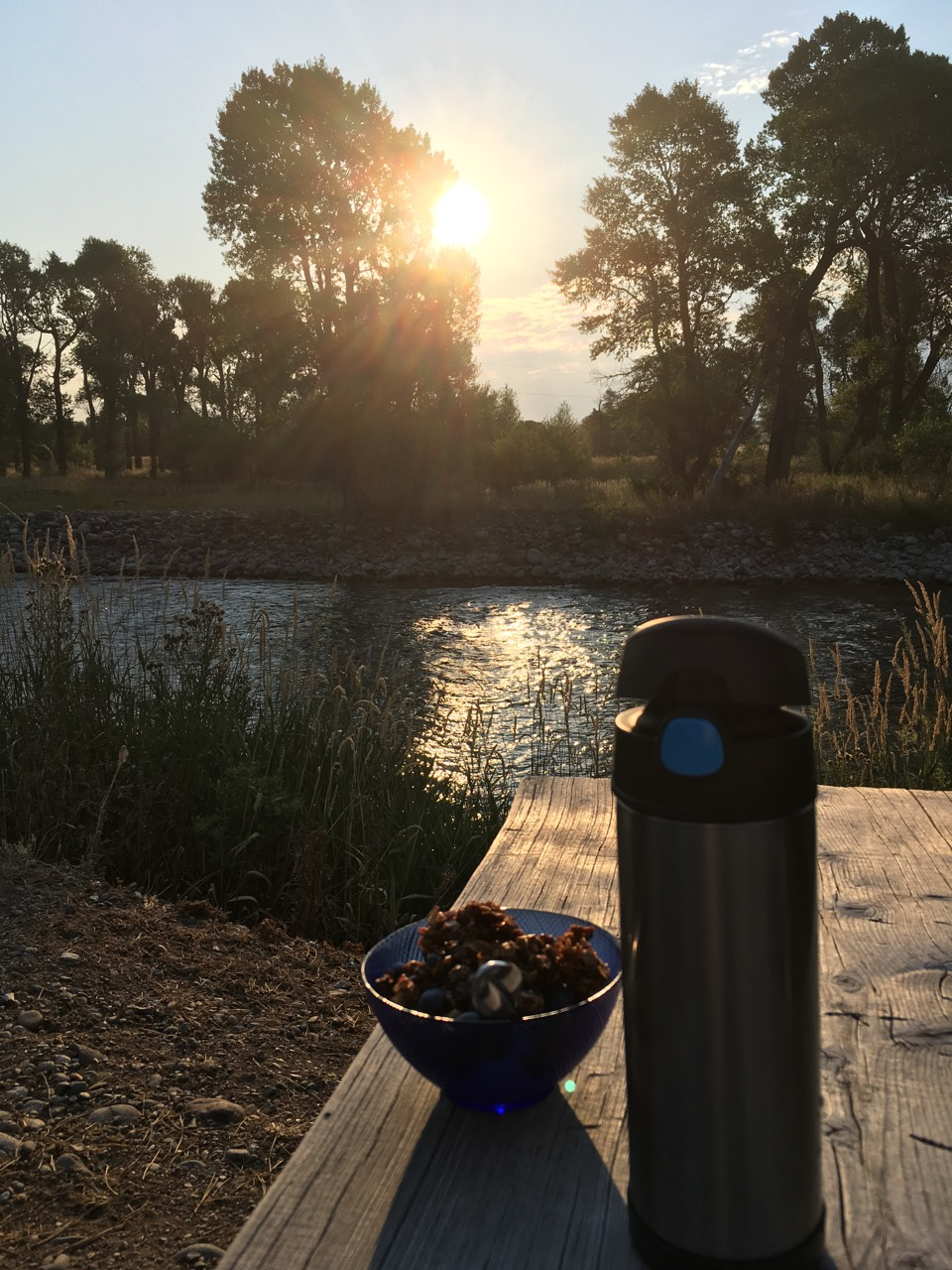 Breakfast at sunrise