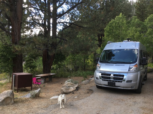 Zelda and Serenity at our campsite
