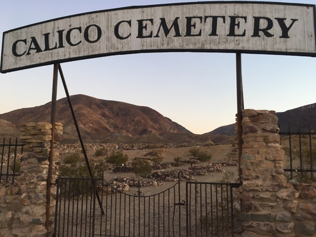 Calico cemetery sign