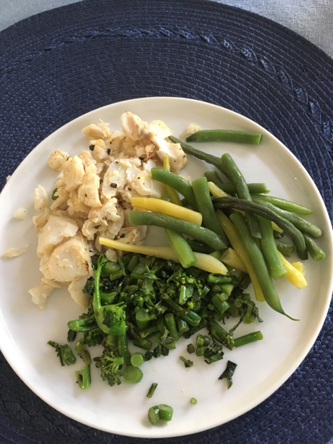 cod and green beans