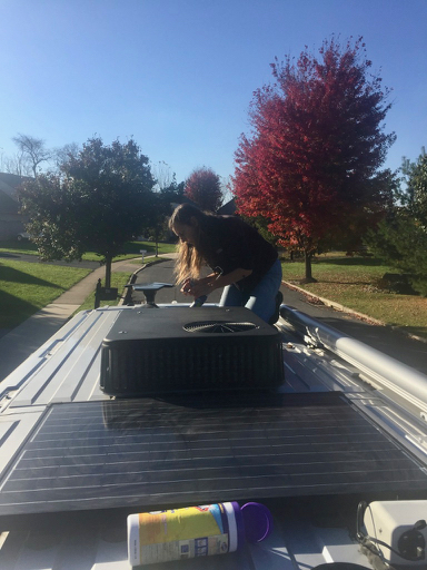 me on top of the van